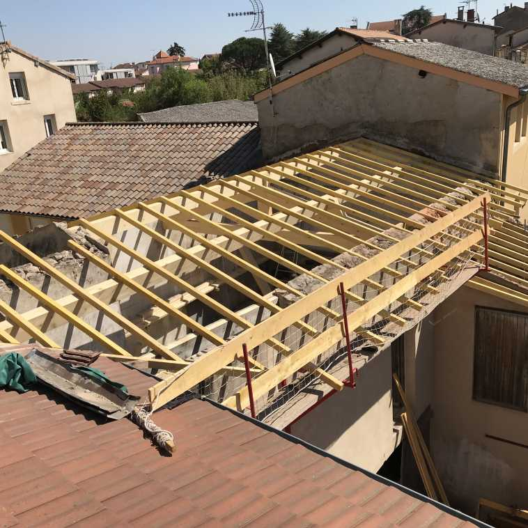RENOVATION CHARPENTE CHEVRONS A ROMANS-SUR-ISERE